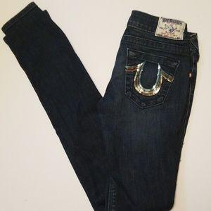 True Religion skinny Jean's sz 26 EUC